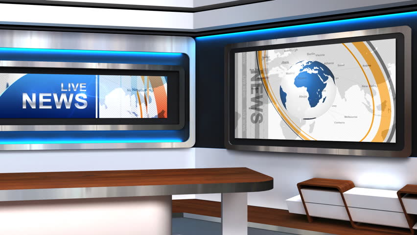 The Background Of The Virtual Studio Stock Footage Video