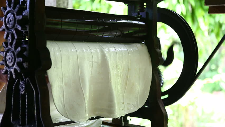 Transform process of rubber industry , milk latex process to raw sheets