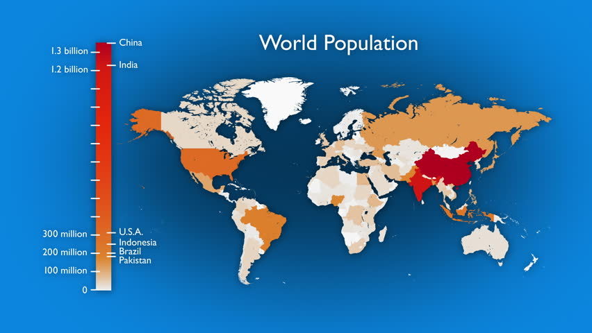 Animated map of world population by country two versions one has animated map of world population by country two versions one has a rising bar graph and text the other has no legend or labels gumiabroncs Choice Image