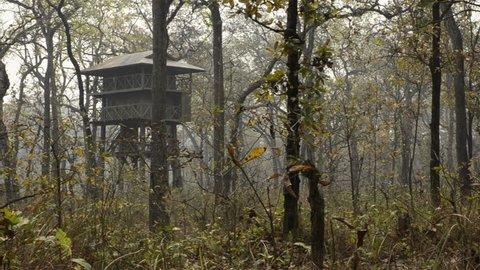 SOUTH OF NEPAL. NATIONAL PARK CHITWAN - april, 20, 2012:  Jungle safari. Tree House.