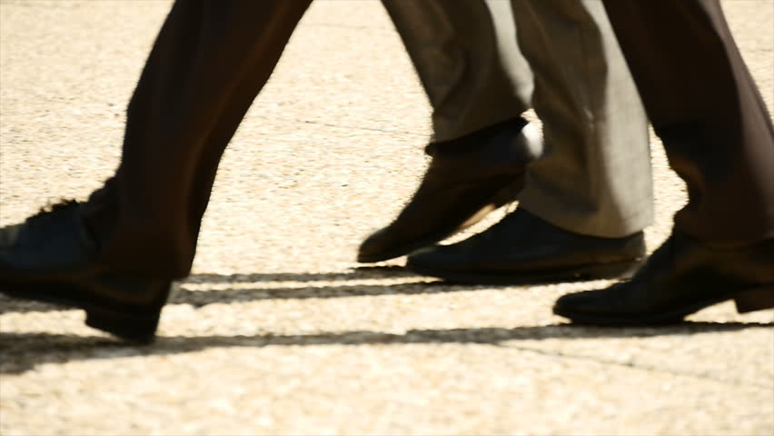 Man Walking From Shoe Angle