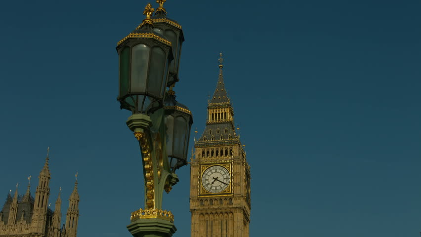 The Beautiful Lighted Big Ben At Night. Big Ben Is The Nickname ...