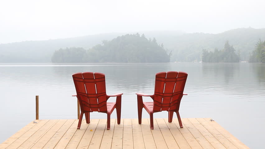 sc 1 st  Shutterstock & Stock video of two red chairs on cottage dock. | 7067317 | Shutterstock