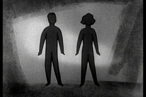 CIRCA 1950s - A silent film about boys' sex organs during puberty.