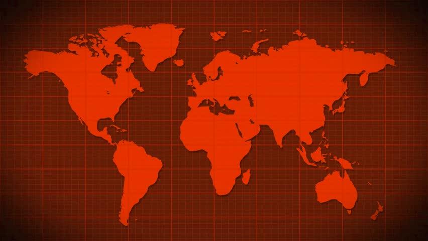 World Map Scanning Satellite Radar Loopable Stock Footage Video - World map satellite hd