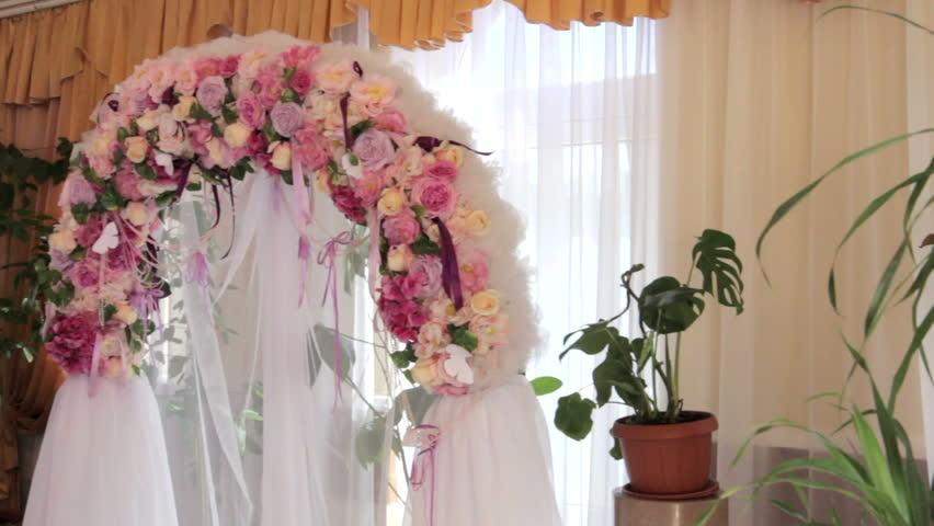 Beautiful Wedding Arch Of Flowers