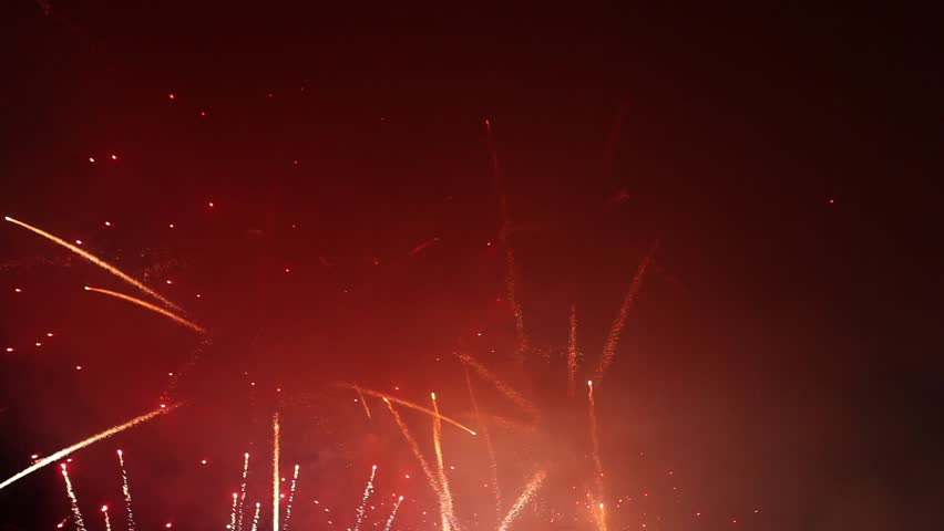 fireworks with audio beautiful fireworks stock footage video 100 royalty free 7325866 shutterstock