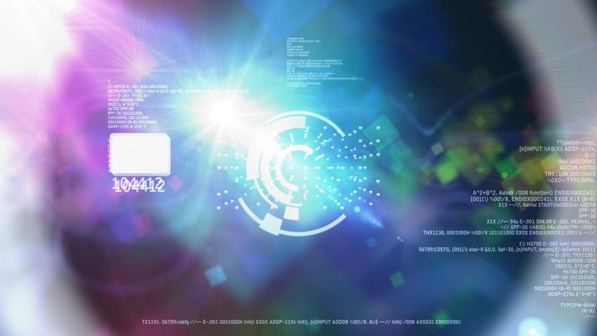 Technology background loop | Shutterstock HD Video #736600