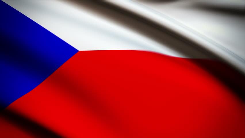 Czech Republic Shining Waving Flag