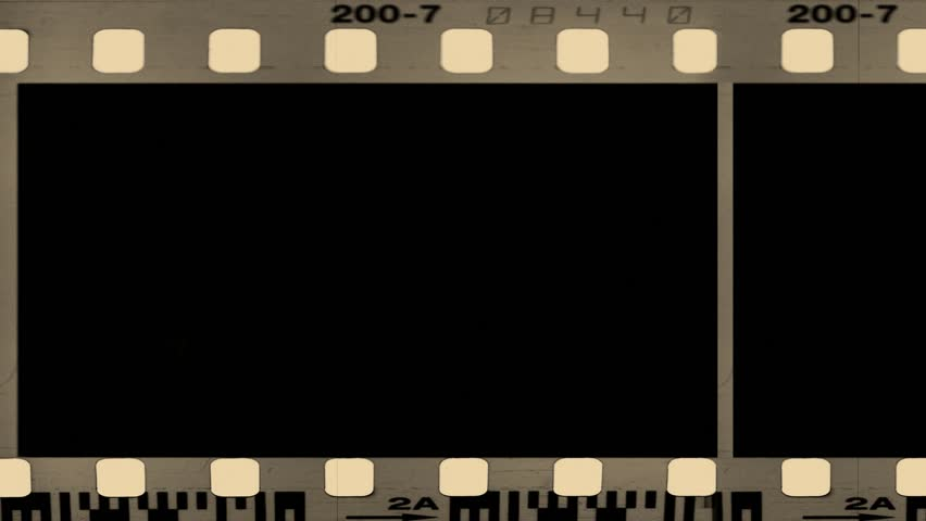 film strip moveing on green background. seamless loopable video, Powerpoint templates