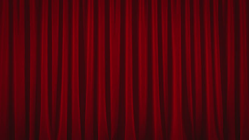 """4K. Red Austrian curtain opens and falls/closing. With CHROMA KEY. Also spelled as """"Braille.""""  
