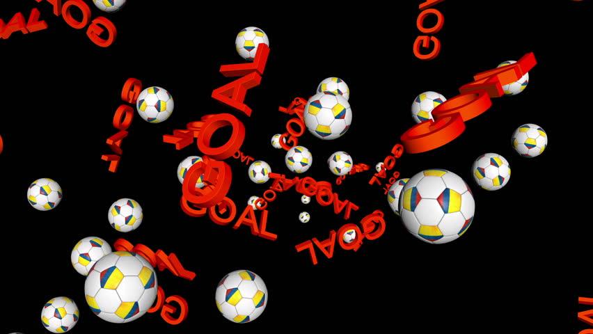 Colombia celebrating GOAL on black background | Shutterstock HD Video #7481686