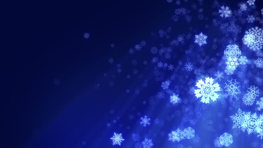 Christmas Snowflakes Loop, Dark Blue Version. Holiday Background ...