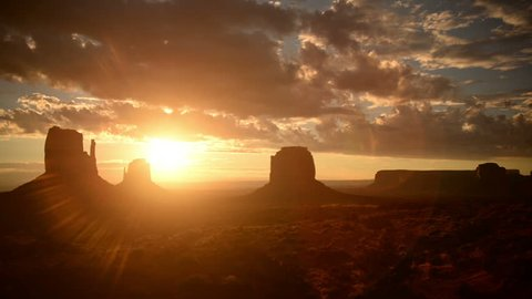 Monument Valley Sunrise 12 Timelapse Clouds USA