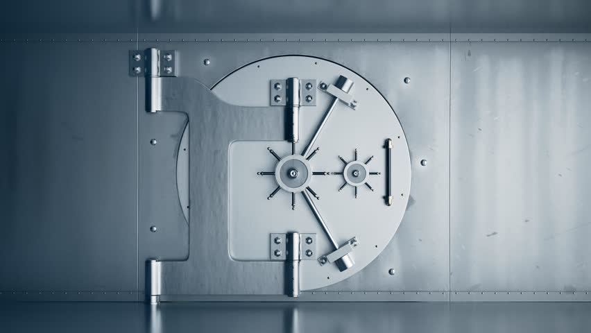 01806 Opening Of The Vault Door In Bank