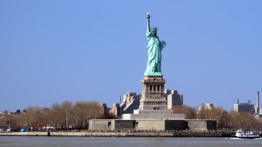 Statue Of Liberty From The Stock Footage Video 100 Royalty Free