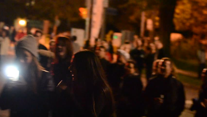 TORONTO, ONTARIO/CANADA - 6th SATURDAY OCTOBER 2013 : Hare Krishna folks singing krishna mantra in festival of nuit blanche, in Toronto.  | Shutterstock HD Video #7554976