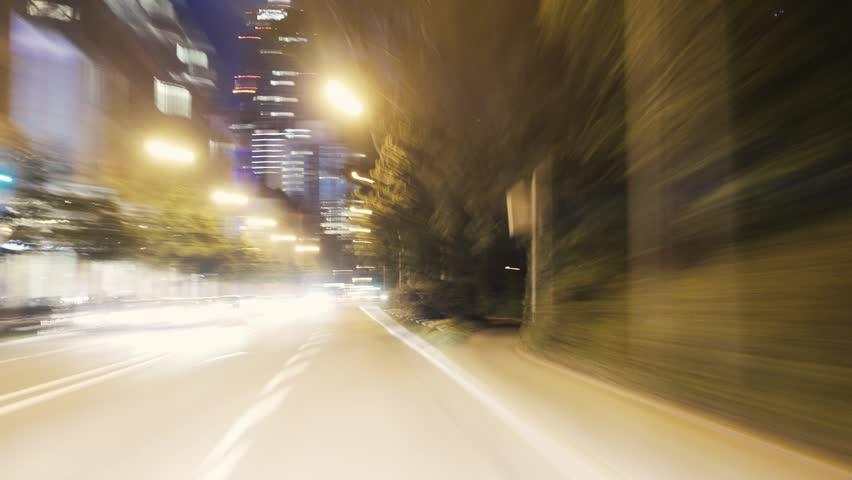 Timelapse Night Drive in City | Shutterstock HD Video #7561216
