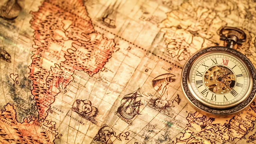 Vintage antique pocket watch on ancient world map in 1565 stock vintage antique pocket watch on ancient world map in 1565 stock footage video 7574146 shutterstock gumiabroncs Image collections