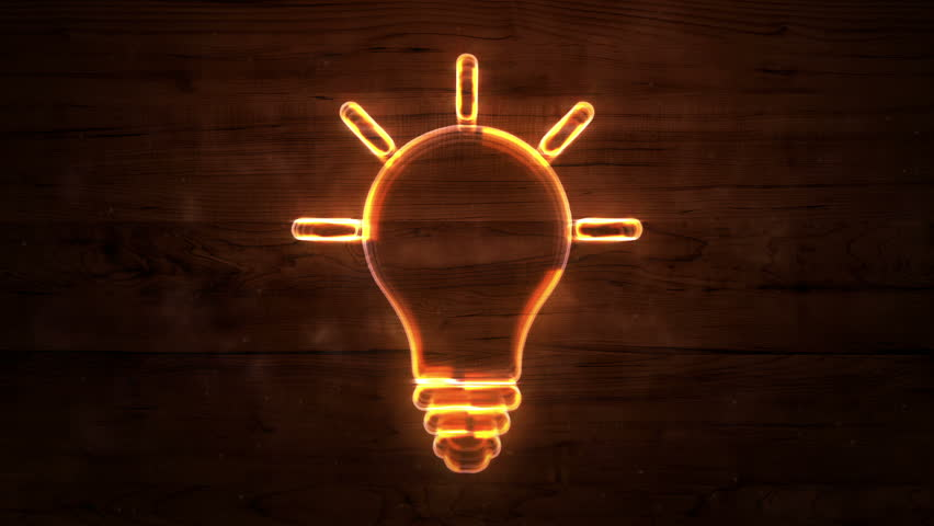 Neon Light Bulbs >> Lamp Icon Neon Lights Loop Stock Footage Video 100 Royalty Free 7580386 Shutterstock