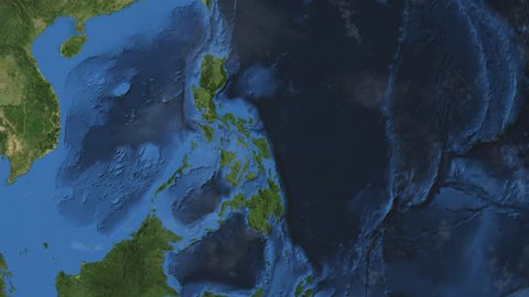 Philippines. 3d earth in space - zoom in on Philippines contoured. Elements of this image furnished by NASA