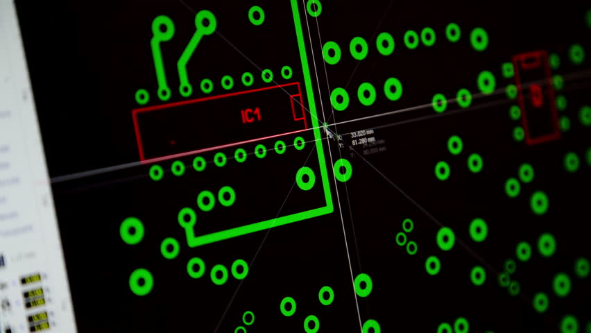 Stock video of electronic engineer designing printed circuit board ...