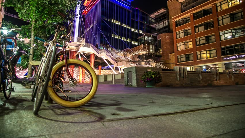 Denver Pedestrian Bridge bicycle Motion Controlled Timelapse