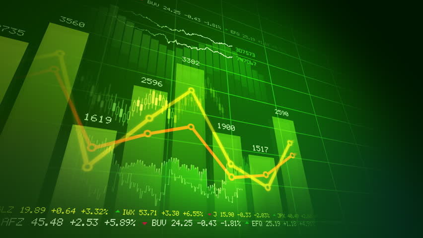 Seamlessly looping abstract animation of financial stock data   | Shutterstock HD Video #766696