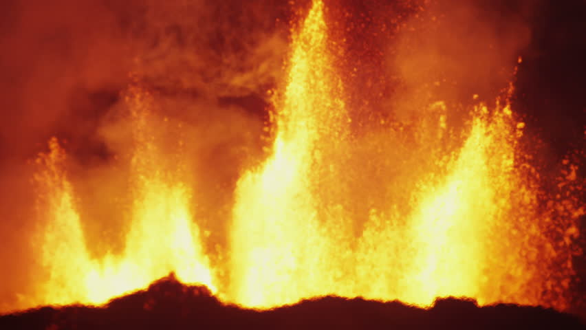 Darkness lava fountains explosions nature molten fire eruption Holuhraun volcano geology pollution force Bardarbunga Iceland tourism RED EPIC