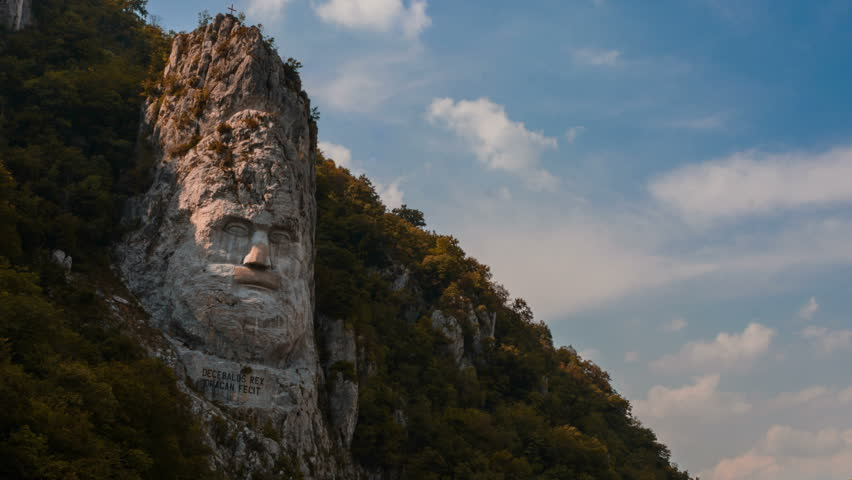 Statue of decebal 1st century ad dacian king largest rock carving statue of decebal 1st century ad dacian king largest rock carving in europe on danube river time lapse 4k stock footage video 7724986 shutterstock publicscrutiny Image collections