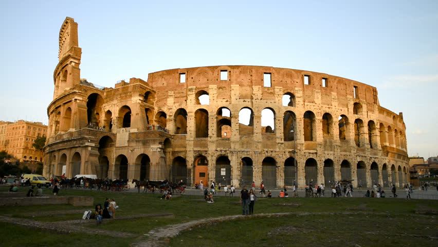 Ancient Roman Colosseum In Rome, Stock Footage Video (100