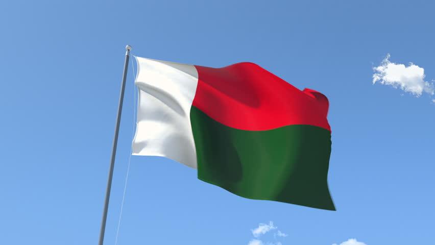 Madagascar Flag Stock Footage Video Shutterstock - Madagascar flag