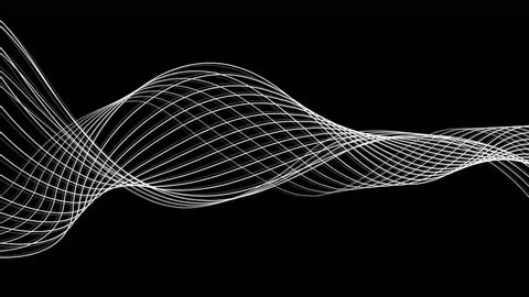 Slow flowing black and white particle vector abstract background Computer Designed Animation - uhd ultra hd 4k 4096 quad