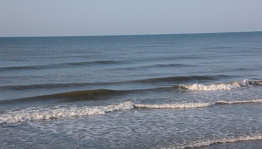 Pretty crashing sea waves and sunshine