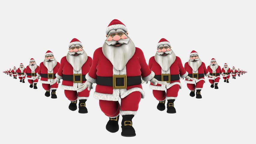 Christmas Dancing Santa.Group Of Santa Claus Are Stock Footage Video 100 Royalty Free 7920946 Shutterstock
