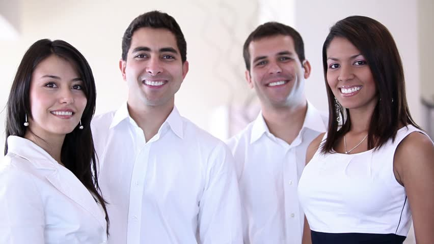 Business group with thumbs up at the office looking to the camera | Shutterstock HD Video #798706