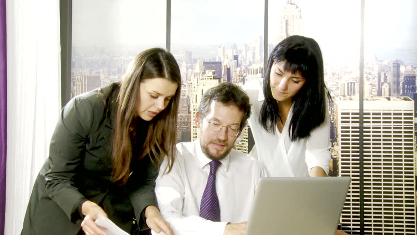 Business people at work in office in Manhattan New York   Shutterstock HD Video #7988251