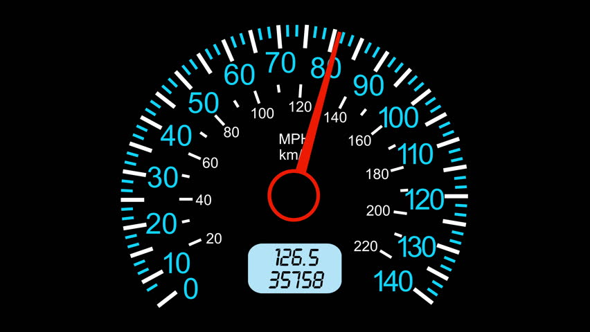 Car Speedometer And Moving Pointer Stock Footage Video