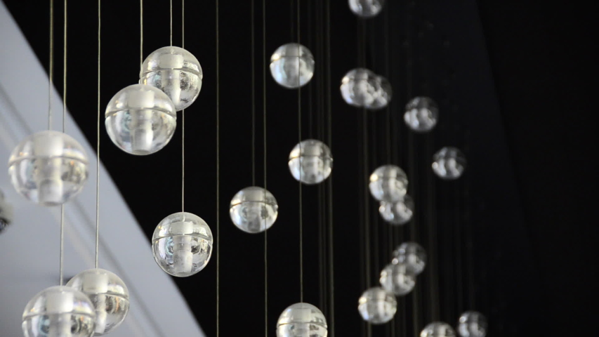 Fancy lighting fixture at a modern hotel. - 1920x1080 - HD #7990996