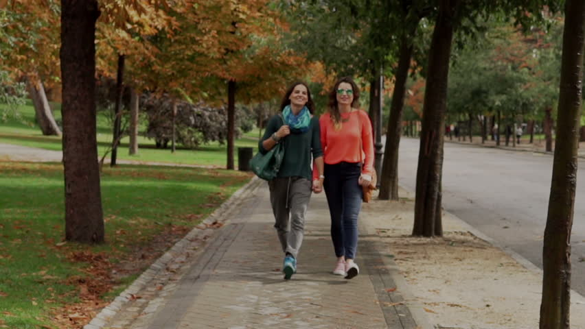 Two Lesbians Holding Hands Stock Footage Video  Shutterstock-6281