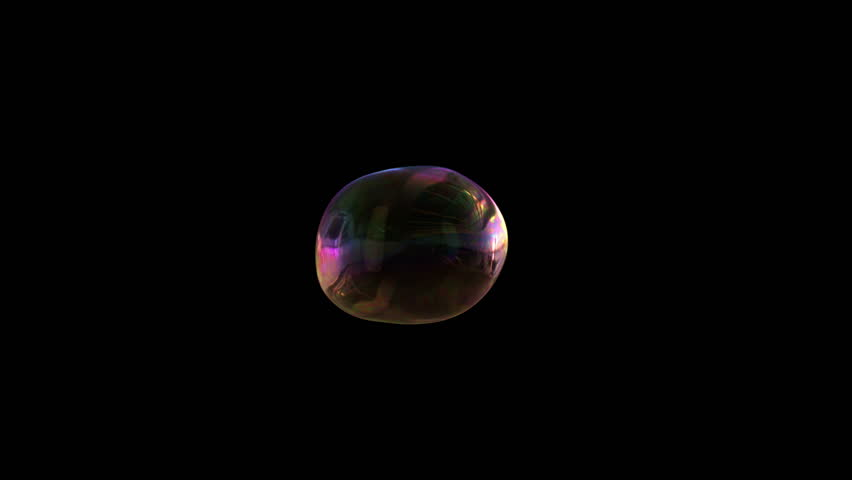 4k colorful motion background, soap bubble inflates and flies over dark black screen (Hd,  3840 X 2160, ready for compositing, isolated on black, with alpha channel)  | Shutterstock HD Video #8036893