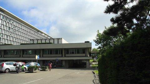 GENEVA/SWITZERLAND, AUGUST 2014: WHO organization in Geneva (World Health Organization). Find similar in our portfolio.