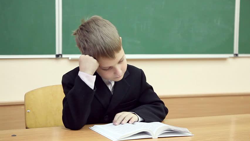 Little Boy Reading a Book Stock Footage Video (100% Royalty-free) 8082226    Shutterstock