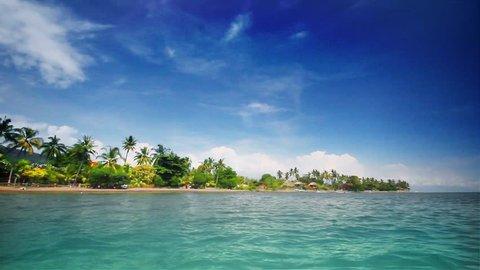 Tropical beach (left)
