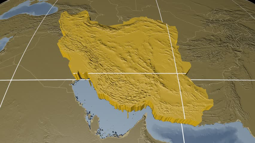Stock video of iran extruded on the world map 8124016 shutterstock gumiabroncs Image collections