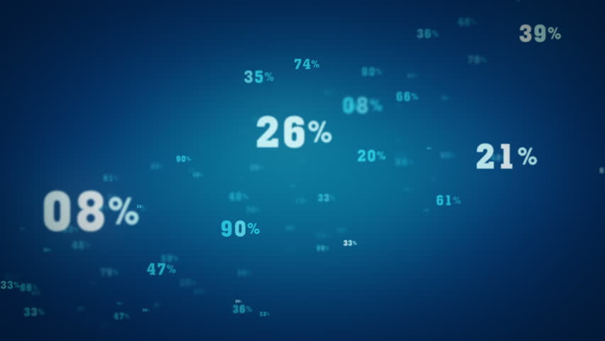 Random Percentages Tracking Blue | Shutterstock HD Video #8126386
