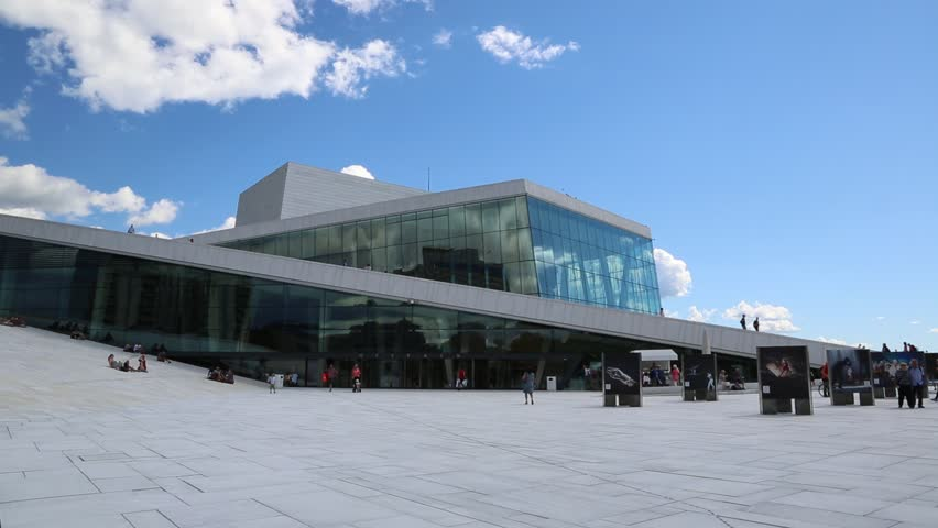 OSLO, NORWAY   JULY 29: The Oslo Opera House Is The Home Of The Norwegian  National Opera And Ballet, And The National Opera Theatre In Norway In  Oslo, ...
