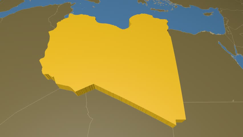 Iran extruded on the world map with administrative borders solid libya extruded on the world map with administrative borders solid colors used 4k gumiabroncs Images