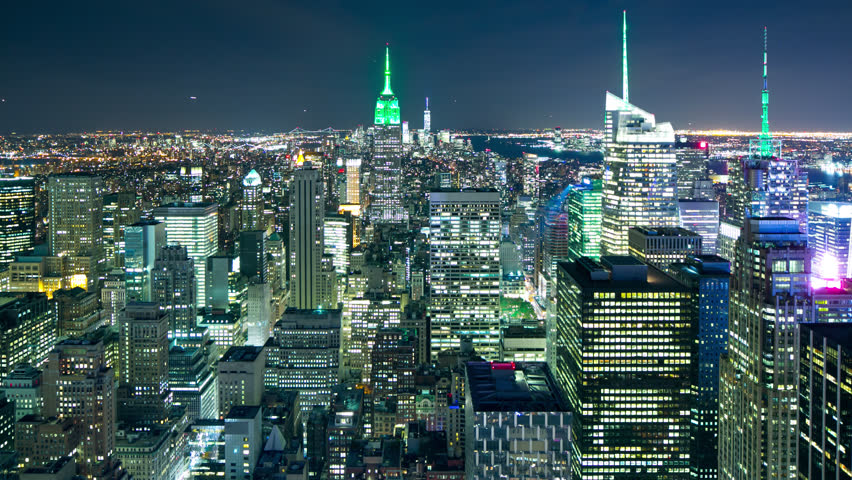 broadway lights 4k time lapse from night new york city