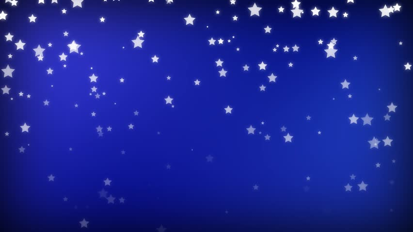 hand sketched cartoon stars on a blue screen background